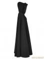 Black Winter Gothic Long Fur Cloak for Women