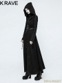 Black Gothic Dark Angel Long Coat for Women