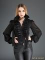 Black Palace Style Chiffon Blouse for Women
