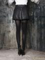 Black Gothic High-Waist PU Leather Short Skirt