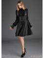 Black Gothic High-Waist Suspender Dress
