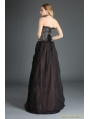 Black and Coffee Organza Gothic Long Skirt