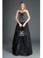Black Organza Gothic Long Skirt