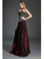Black and Red Organza Gothic Long Skirt