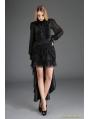 Black Gothic Irregular Lace Tailed Skirt