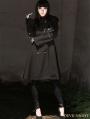 Black Gothic Hoodie Long Coat for Women