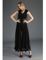 Black Gothic Lace Sleeveless Long Hoodie Outfit for Women