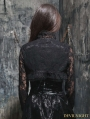 Black Gothic Long Sleeves Lace Short Cape