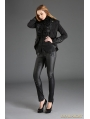 Black Vintage Gothic Dovetail Jacket for Women