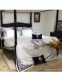 White and Black Gothic Vintage Palace Comforter Set
