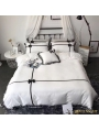 White and Black Gothic Sweet Comforter Set