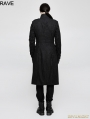 Black Gothic Military Uniform Style Worsted Jacket for Men