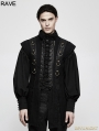 Black Gothic Punk Armor Style Vest for Men