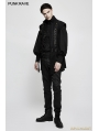 Black Gothic Gorgeous Disc Floret Long Sleeves Shirt for Men