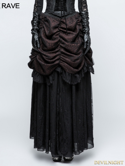 Black and Red Gothic Gorgeous Bubble Skirt