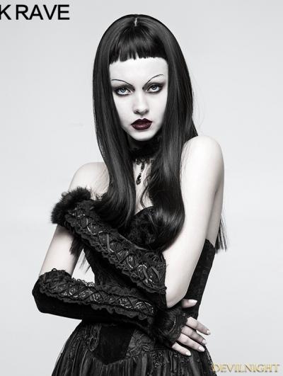 Black Gothic Velvet Glove