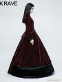 Red Gothic Palace Swallow Tail Long Dress Jacket for Women