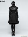 Black Gothic Lolita Fur Worsted Coat for Women