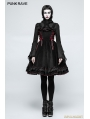 Black Gothic Lolita High Neck Lace Collar Shirt for Women