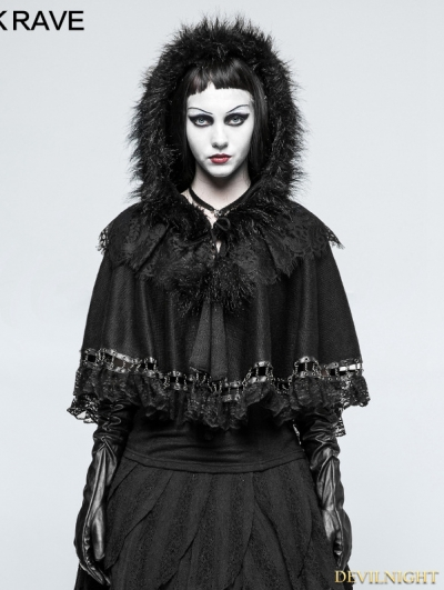 Black Gothic Lolita Little Cloak/Cape for Women