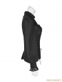Black Gothic Lolita Leg-of-Mutton Sleeve Shirt for Women