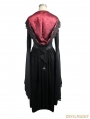 Black Romantic Gothic Vampire Style Hooded Dress