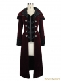 Red Gothic Vintage Palace Style Long Jacket for Women