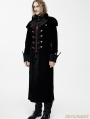 Black Gothic Vintage Palace Style Long Jacket for Men