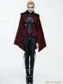 Red Gothic Velvet Short Jacket Cape for Women