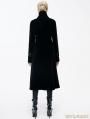 Black Velvet Chinese Knot Gothic Vintage Long Jacket for Women