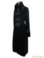 Black Velvet Chinese Knot Gothic Vintage Long Jacket for Women