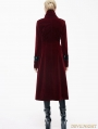 Red Velvet Chinese Knot Gothic Vintage Long Jacket for Women