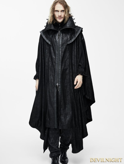 Black Gothic Big Cape for Men