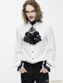 White Gothic Vintage Palace Style Blouse with Bowtie for Men