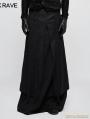 Black Gothic Half Long Skirt for Men