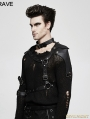 Black PU Leather Gothic Punk Accessory