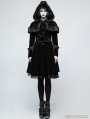 Black Sweet Gothic Lolita Faux Fur Coat