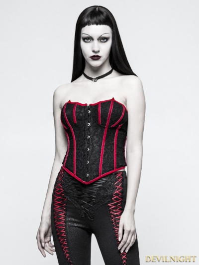 Black and Red Gothic Bat Corset