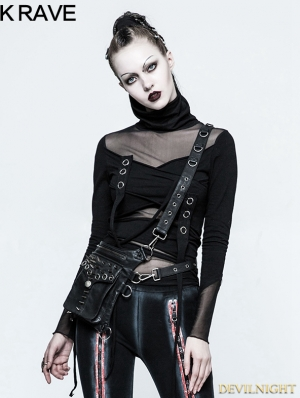 PU Leather Gothic Punk Multifunction Bag