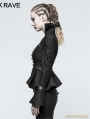 Black Steampunk Trumpet Sleeve Short Jacket for Women