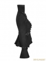 Black Steampunk Trumpet Sleeve Short Jacket for Women