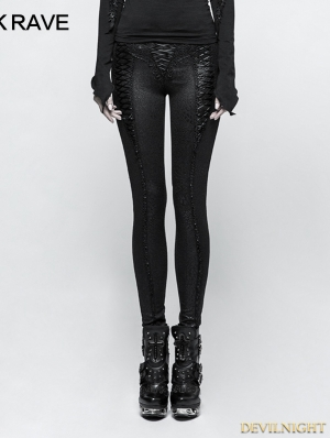 Black Gothic Gorgeous Slim Long Leggings