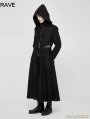 Black Gothic Dark Angel Long Coat for Men