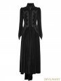 Black Gothic Palace Swallow Tail Long Dress Jacket for Women
