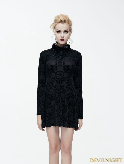 Gothic Printing Pattern Little Black Dress