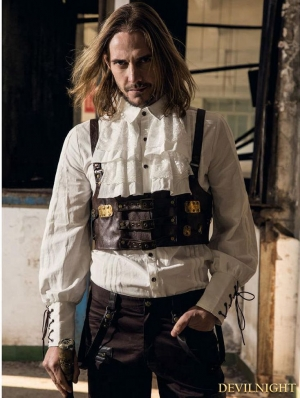 Coffee Steampunk Man Belt Vest