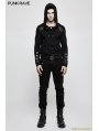 Black Gothic Punk Long Sleeve Hooded Sweater for Men