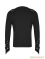 Black Gothic Punk Pullover T-Shirt for Men
