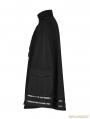 Black Gothic Military Uniform Worsted Cloak for Men