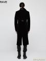 Black Gothic Vintage Gentleman High-Low Coat for Men